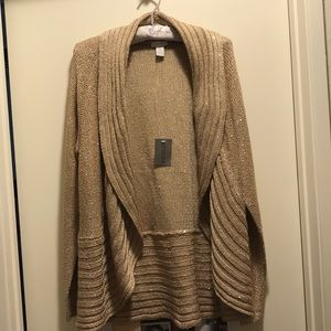 NWT Chico's Gold Sequin Cardigan!